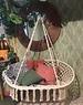 Decoris Hanging Hammock Chair Cream 2 Seater