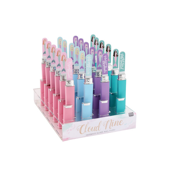 CGB Glass Nail File in case (assorted colours)