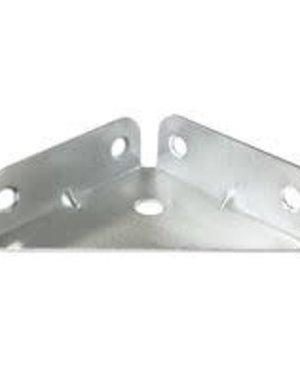 Flanged Corner Plates 50mm Bright Zinc Plated PK2