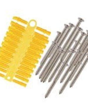 "Select Screw & Wall Plug Kit 1"" x No.6 Yellow PK20"