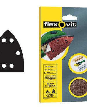 Flexovit Flexovit Sanding Sheets - 6 Pack (95 x 145mm) 80g (Medium)