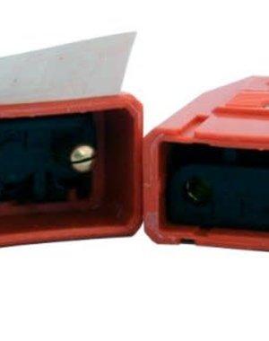 Dencon Nylon Connector Orange 2 Pin 10Amp