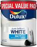 Dulux (Akzo Nobel) Emulsion Pure Brilliant White (PBW) 3L Matt
