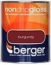 Berger Non Drip Gloss 750ml Burgundy