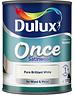 Dulux (Akzo Nobel) Once Coat Satin Wood 750ml Brilliant White