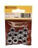SupaFix M8 Steel nuts M8 ZP Steel Hex Nuts (Pack of 10)