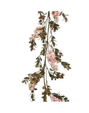 Decoris Pink Berries Garland 130cm
