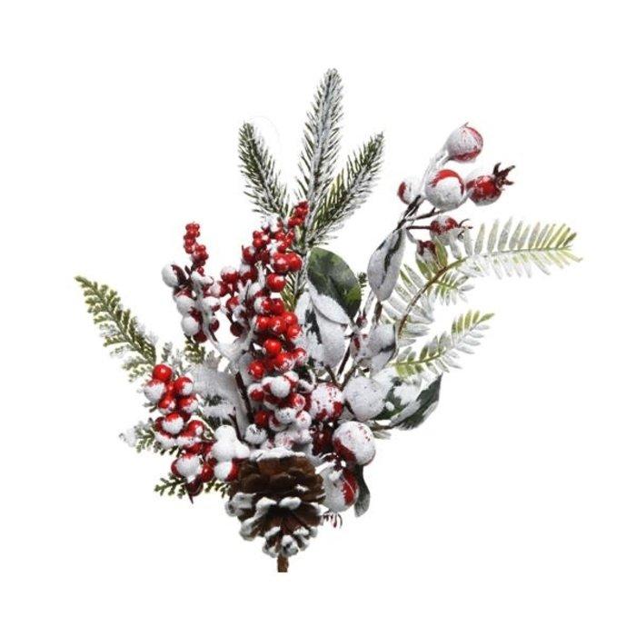 Decoris Red Berries and Pinecone