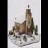 Kaemingk Led Fibre Optic Church White & Multi LEDs