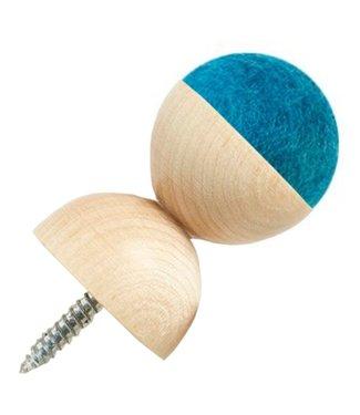 Aveva Aveva WOW Wandknop Turquoise Large