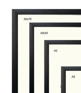 Kortkartellet Kortkartellet Zwarte  Aluminium Lijst Meerdere Maten