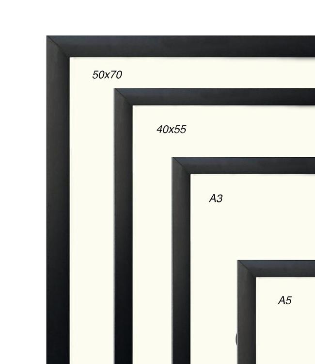 Kortkartellet Kortkartellet Black Aluminium Frame  Different Sizes
