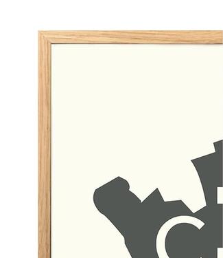Kortkartellet Kortkartellet Oak Frame  40x55