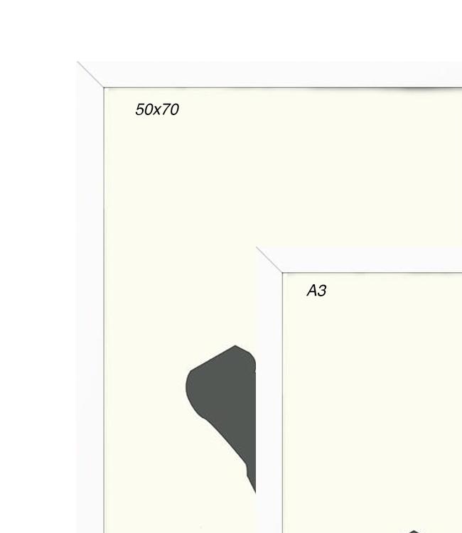 Kortkartellet Kortkartellet White Frame  Different Sizes