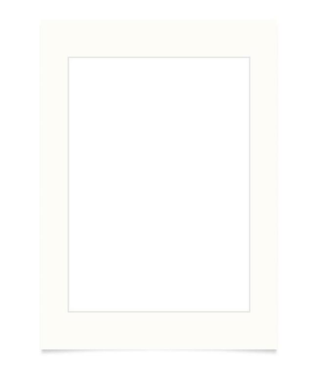Kortkartellet Kortkartellet Passepartout 40x55 Off-White