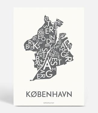 Kortkartellet Kortkartellet A5 Mini Poster København Antraciet