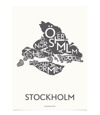 Kortkartellet Kortkartellet A5 Mini Poster Stockholm Antraciet