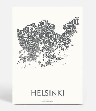 Kortkartellet Kortkartellet A5 Mini Poster Helsinki Antraciet