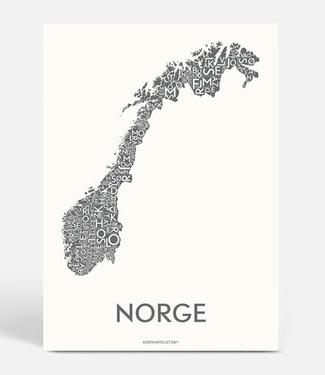Kortkartellet Kortkartellet A5 Mini Poster Norge Antraciet