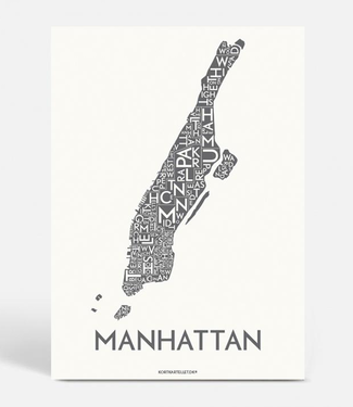 Kortkartellet Kortkartellet Manhattan A5 Mini Poster  Antraciet