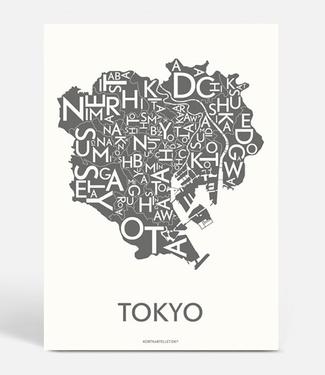 Kortkartellet Kortkartellet A5 Mini Poster Tokyo Antraciet