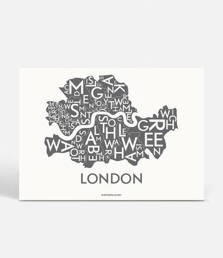 Kortkartellet Kortkartellet A5 Mini Poster London Antraciet