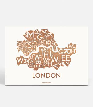 Kortkartellet Kortkartellet A5 Mini Illustration London Copper