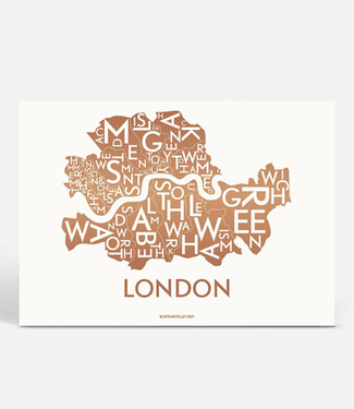Kortkartellet Kortkartellet A5 Mini Poster London Koper