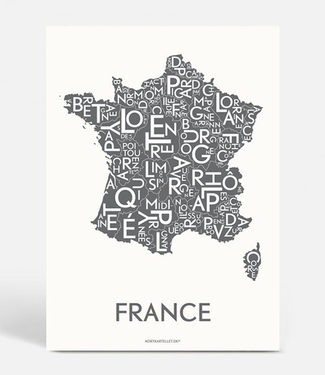Kortkartellet Kortkartellet A5 Mini Poster France Antraciet