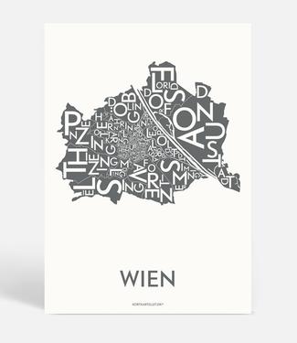 Kortkartellet Kortkartellet A5 Mini Poster Wien Antraciet