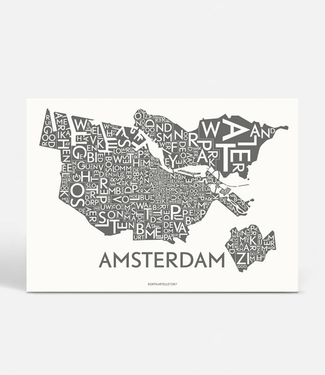 Kortkartellet Kortkartellet A5 Mini Illustration Amsterdam Charcoal