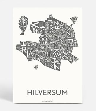 Kortkartellet Kortkartellet Hilversum A5 Mini Poster  Antraciet