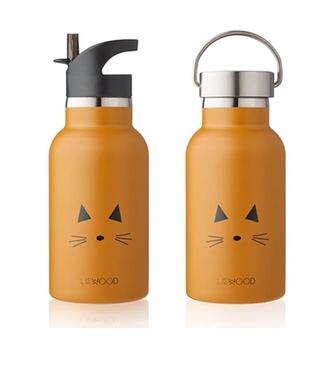 Liewood Liewood RVS Water Bottle Mustard Cat