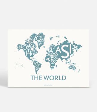 Kortkartellet Kortkartellet Poster The World Staalblauw