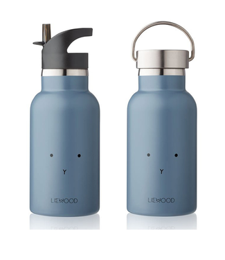 Liewood Liewood RVS Waterfles Blauw  Konijn