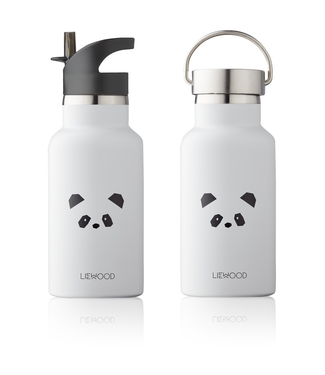 Liewood Liewood RVS Waterfles Drinkfles Panda Lichtgrijs
