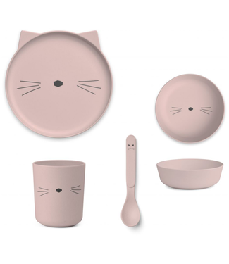 Liewood Liewood Bamboe Cat Rose Children's Dinner Set