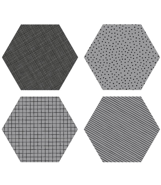 By May By May Coasters Darkgrey Set of 4