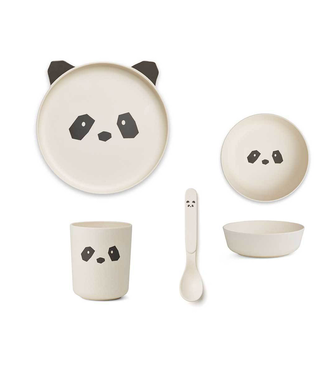 Liewood Liewood Bamboe Panda Kinderservies Set