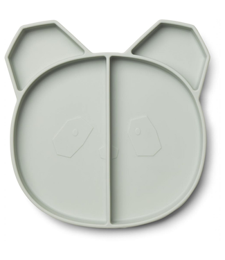 Liewood Liewood Silicone Children's Plate Panda Mint