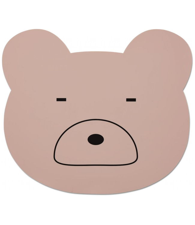 Liewood Liewood Silicone Pink Placemat Bear