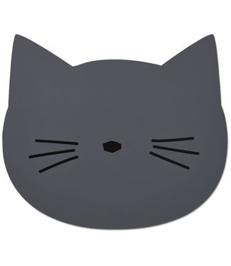 Liewood Liewood Cat Placemat Dark Grey Silicone