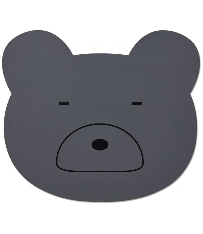Liewood Liewood Bear Placemat Dark Grey Silicone