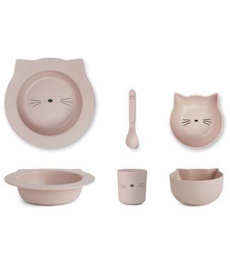 Liewood Liewood Bamboo Cat Rose Baby Dinner Set