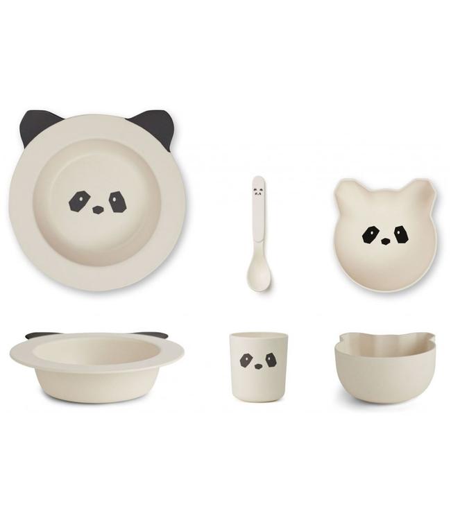 Liewood Liewood Bamboo Panda Baby Dinner Set