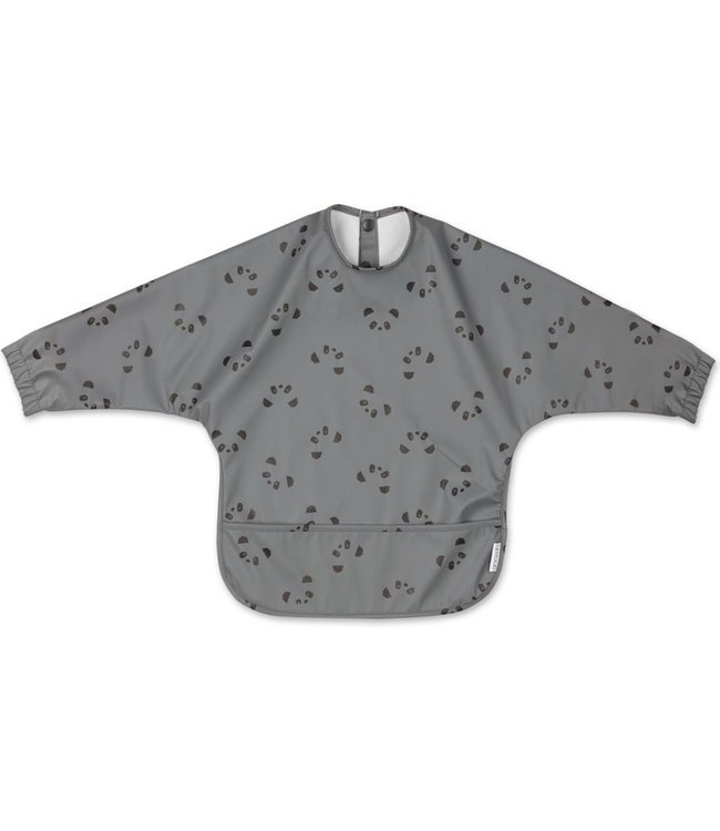Liewood Liewood Merle Bib With Sleeves Grey Panda