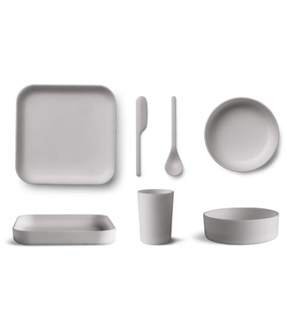 Liewood Liewood Aiko Bamboo Dinner Set Grey