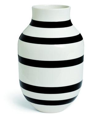 Kähler Design Kähler Design Omaggio Vaas Zwart Streep H305mm
