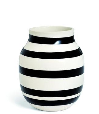 Kähler Design Kähler Design Omaggio Vaas Zwart Streep H200mm