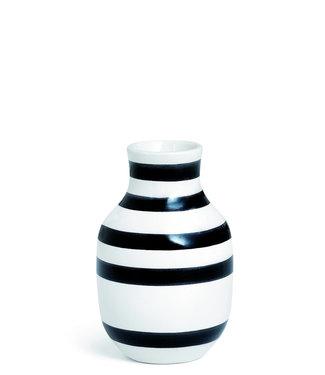 Kähler Design Kähler Design Omaggio Vaas Zwart Streep H125mm